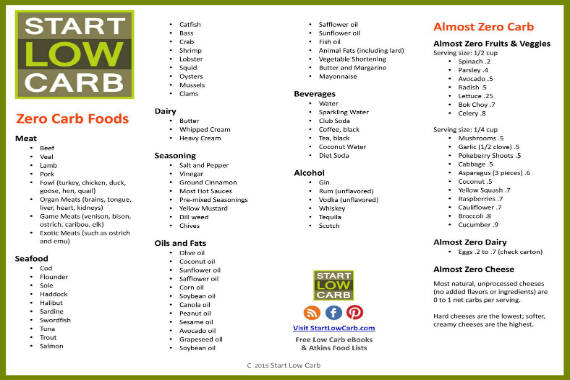 image relating to No Carb Food List Printable called Zero Carb Food items For Atkins Induction And Ketogenic, Food stuff Log