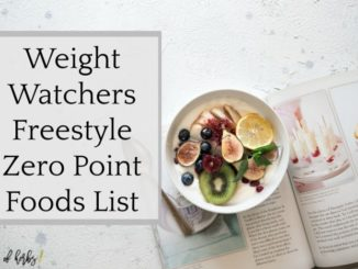 WEIGHT WATCHERS ZERO POINTS FOODS lIST