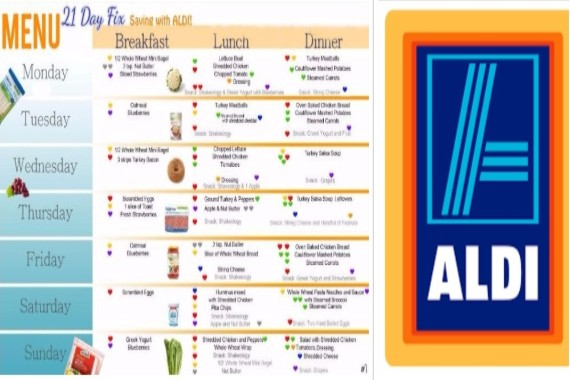Affordable 21 Day Fix Weekly Menu With