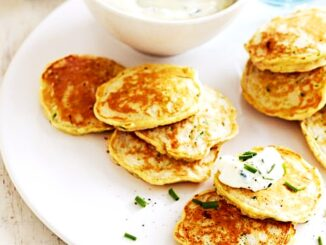 Healthy Breakfast Ham and Zucchini Pikelets